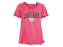 Jacksonville Jaguars Big Girls Flip Sequin T-Shirt