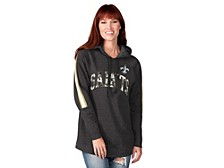 New Orleans Saints Women's Double Team Tunic Hoodie
