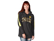 Pittsburgh Steelers Women's Double Team Tunic Hoodie