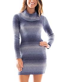 Juniors' Striped Sweater Dress