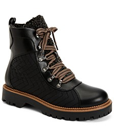 Morggan Lace-Up Lug Sole Combat Booties, Created for Macy's