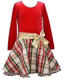 Toddler Girls Plaid Drop Waist Dress