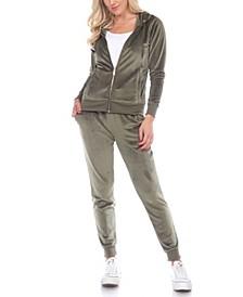 Women's Velour Tracksuit Loungewear 2pc Set