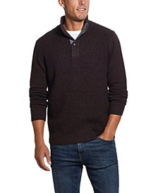 Men's Button Mock Sweater