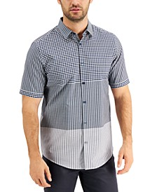 Men's Blocked Check Shirt, Created for Macy's