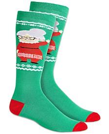 Women's Mrs. Claus Knee-High Socks, Created for Macy's