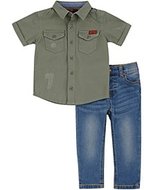 7 For All Mankind Baby Boys 2-Piece Set