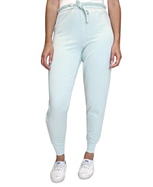 Crave Fame Juniors' Paperbag-Waist Jogger Pants