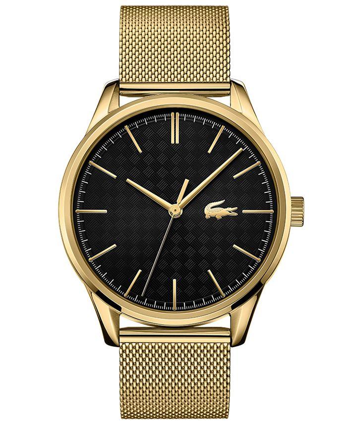 Lacoste - Men's Gold-Plated Steel Mesh Bracelet Watch 42mm