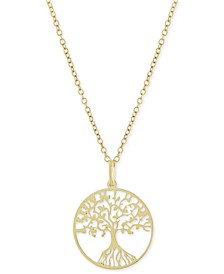 """Tree 18"""" Pendant Necklace, Created for Macy's"""