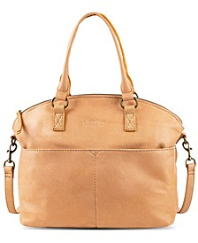 Carrie Leather Dome Satchel