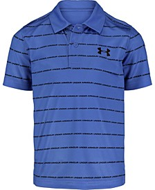 Little Boys Match Play Wordmark Stripe Polo T-shirt