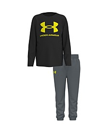 Little Boys Core Logo Long Sleeve T-shirt and Pant Set