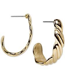Twist J-Hoop Earrings