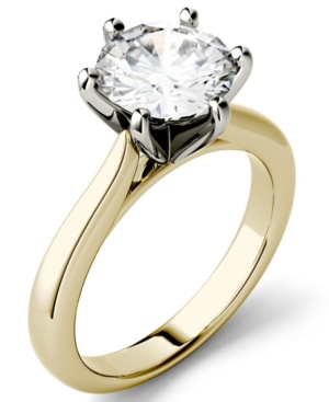 Moissanite Solitaire Engagement Ring 1-9/10 ct. t.w. Diamond Equivalent in 14k White