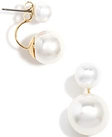 Gold-Tone Imitation Pearl Ear Jackets