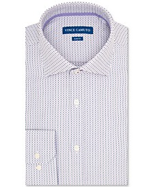 Men's Slim-Fit Performance Stretch Geo Dobby Dress Shirt
