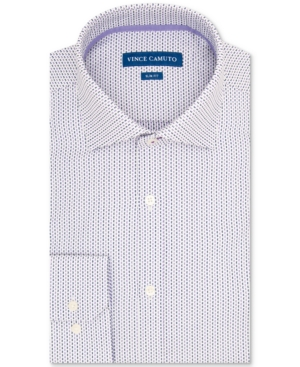Vince Camuto Men's Slim-Fit Performance Stretch Geo Dobby Dress Shirt