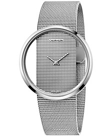 Glam Women's Stainless Steel Mesh Bracelet Watch 42mm