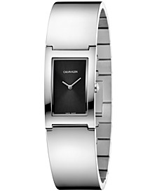 Women's Swiss Polish Stainless Steel Bangle Bracelet Watch 22mm