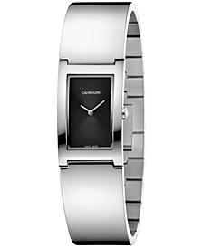 Women's Swiss Polish Stainless Steel Bangle Bracelet Watch 22mm