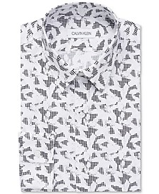 Men's Extra-Slim Stain-Shield Performance Patterned Dress Shirt