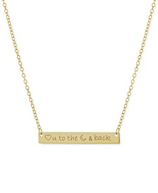 """Love You to the Moon & Back"" Bar Pendant Necklace, 16"" + 2"" extender, Created for Macy's"