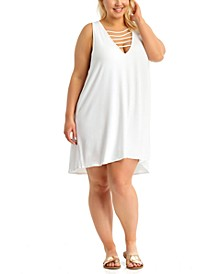 Size Strappy Cover-Up Dress