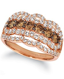 Chocolate Diamond (1 ct. t.w.) & Nude Diamond (1 ct. t.w.) Ring in 14k Rose Gold