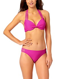 Juniors' Strappy Push-Up Bikini Top & Hipster Bikini Bottoms, Created for Macy's