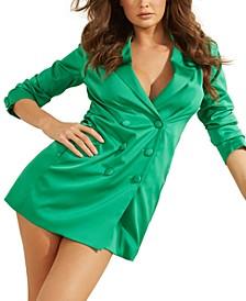 Cecile Satin Blazer Dress