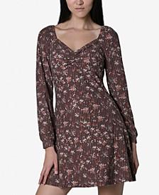 Juniors' Sweetheart Printed Dress