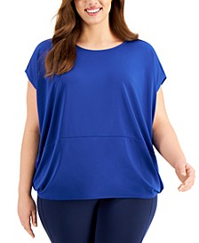 Plus Size Knit Dolman-Sleeve Top, Created for Macy's