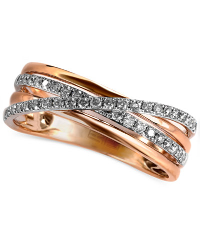Pave Rose By Effy Diamond Crossover Ring 1 4 Ct T W