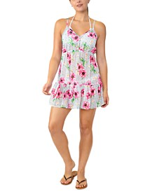 Juniors' Adjustable Floral-Print Cover-Up, Created for Macy's