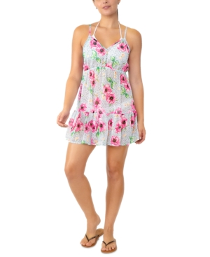 Juniors' Adjustable Floral-Print Cover-Up