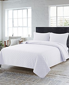 Solid Washed Quilt 3 Piece Set, King