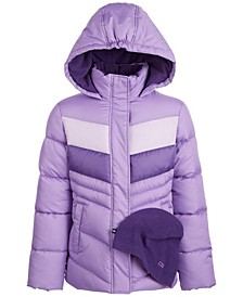 Big Girls Colorblocked Puffer Coat