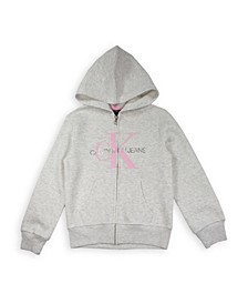Big Girls Monogram Logo Fleece Hoodie