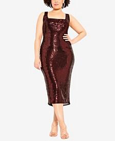 Women's Trendy Plus Size Sequin Dress