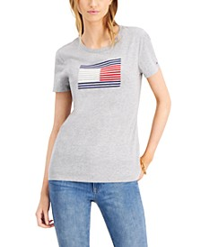 Cotton Flocked Flag T-Shirt