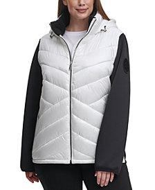 Calvin Klein Performance Plus Size Hooded Jacket