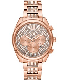 Women's Janelle Chronograph Rose Gold-Tone Stainless Steel Bracelet Watch 42mm