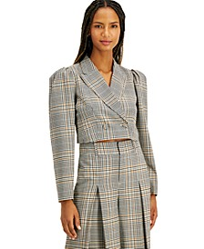 INC Plaid Cropped Jacket, Created for Macy's
