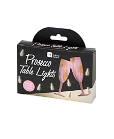 Mini Prosecco Table Lights, Battery-operated