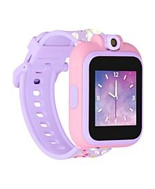 Kid's Playzoom 2 Purple Butterfly Print Tpu Strap Smart Watch 41mm