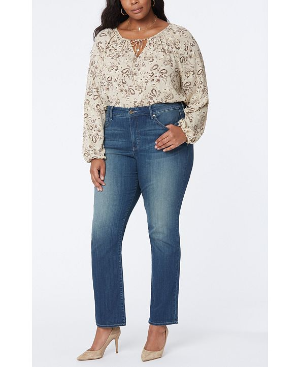 NYDJ Plus Size Marilyn Straight Leg Sure Stretch Jeans