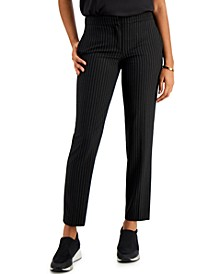 Pinstripe Skinny Pants, Created for Macy's