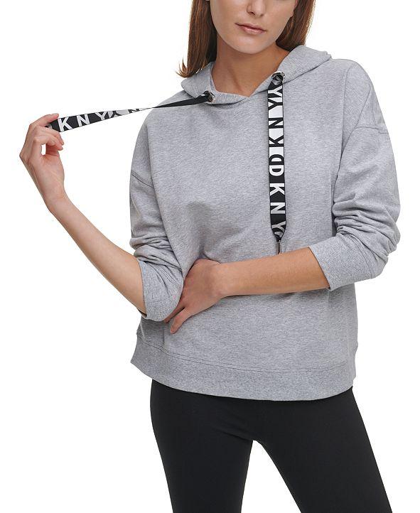 DKNY Metallic-Logo Drawstring Hoodie