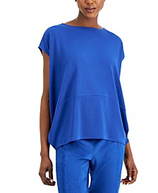 Cap-Sleeve Colorblocked Top, Created for Macy's